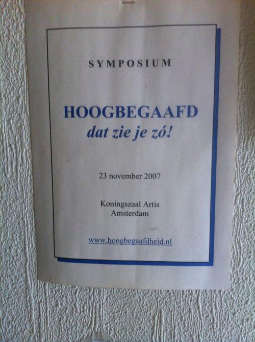 Uit De Oude Doos Symposium In Artis Ik Ben Hoogbegaafd